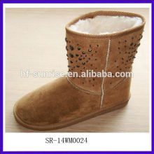SR-14WM0024 2014 new beautiful young stylish snow boots comfortable fashion woman snow boots Best selling Women's snow boots