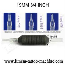 Aperto descartável da tatuagem do silicone de 3 / 4inch 19mm