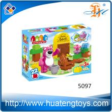 2016 Nuevos niños educación abs plástico oso bloques de construcción juguetes