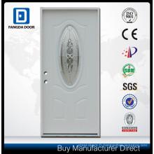 Fangda 3/4 verre décoratif ovale Prehung Porte d'acier extérieure