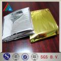 Гибкая упаковка ПЭТ-самоклеящаяся глянцевая золотая серебряная металлизированная пленка для полиэфира