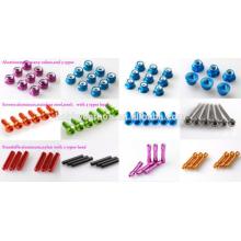 Perno y tuerca hexagonales personalizados de alta resistencia para manu ...
