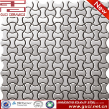Approvisionnement d'usine de porcelaine Carreau de mosaïque en acier inoxydable de forme osseuse
