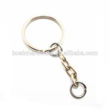 Popular de boa qualidade metal mini anel dividido com corrente