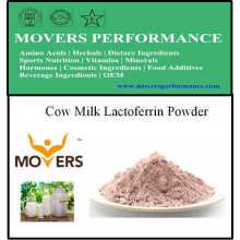 Polvo de lactoferrina de la leche de vaca del suplemento de la nutrición vendedora caliente