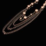 Fashion Pearl Jewelry With Antique Copper Plated Chain (CJ- N132)