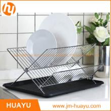 Estante del plato de la cocina del hierro del cromo del acero inoxidable Estantes de plato del alambre del cromo