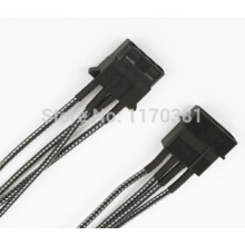 Sleeved 4pin Molex IDE Female to Male Power Extension Cabl