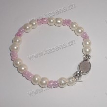 Wholesale Cheap Pink Pearl Beads Rosary Bracelet