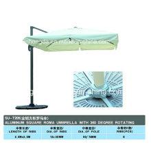 Parapluie carré en aluminium à 8 ailettes en tôle (YSBEA0015)