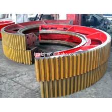 Halbes Ring-Zahnrad der hohen Qualität für Ball-Mühle / Zement-Mischer