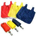 Cheap Folding Nylon Folding T-Shirt Grocery Shopper Tote Bag