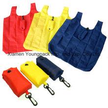 Günstige Fold up Nylon Folding T-Shirt Grocery Shopper Tote Bag