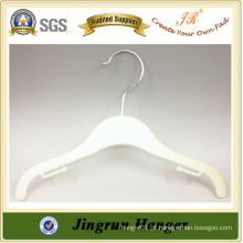 Gancho de roupas de plástico de qualidade para suspensão de roupas feita de resina