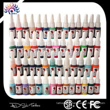 14 couleurs Professional Hot Sale Meilleur prix Tattoo Ink set Medical Grade Tattoo Ink pour véritable peau