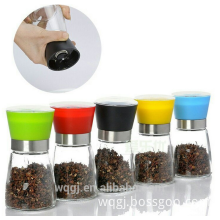 Deluxe Stainless Steel Salt and Pepper Grinder Professional Salt Mill and Pepper Mill Glass Body