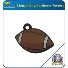 Charme en métal de conception de rugby avec le trou
