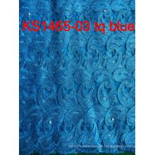 2015 Latest Design Africano água solúvel Laceafrican Cord Lace / Guipure Lace tecido para o vestido de mulheres