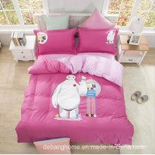Adultos Grupo de edad Algodón Súper Suave Mantenga 4 PCS Juego de sábanas ajustado Juego de cama de algodón