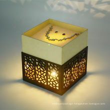 Latest design laser cut luxury style hollow-out design cajas para joyeria earrings necklace jewelry paper gift box