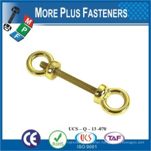 Made in Taiwan High Quality Gold Color Copper Brass Double Eye Bolt