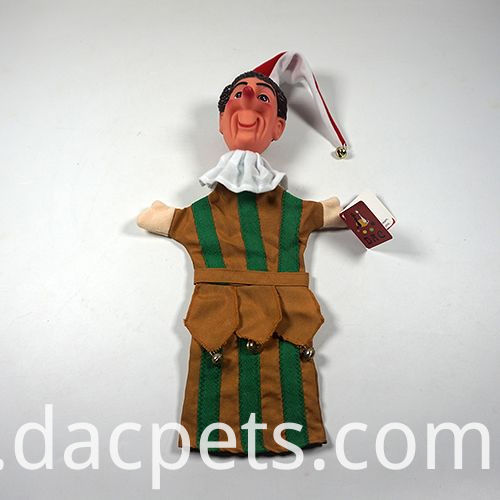 clown hand puppet with vinyl head for theater