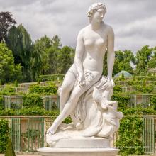 Décoration de la maison Sculpture À La Main Vie Taille Nu Gril ou Femme Marbre Statue