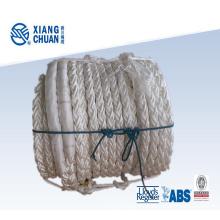 Corde en fibre de tresse PP avec ligne marron
