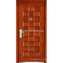 Porte blindée en bois en acier chromé Singe Swing