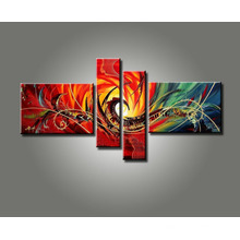 Canvas Group Abstract Oil Painting