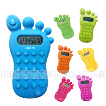 8 Digits Foot Shape Gift Calculator with Various Optional Colors (LC517A)