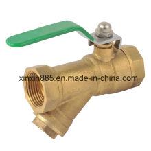 Válvula de esfera de bronze com filtro
