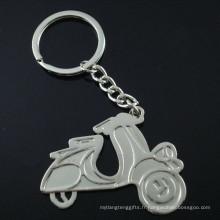 Cadeau promotionnel en alliage de zinc Lady Motorcycle Shape Key Chain (F1369)