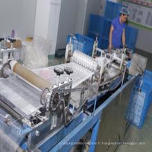 Chapeau chirurgical non-tissé de bouffant de pince d'agrafe faisant la machine