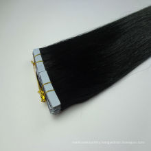 wholesale factory Double drawn straight black tape virgin hair flat tip hair extension by manufacturer