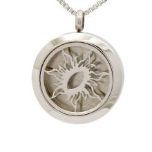 Moda sólida de volta de aço inoxidável de óleo essencial difusor jóias medalhão