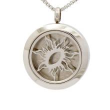 Мода твердые задняя серебро из нержавеющей стали эфирное масло диффузор медальон ювелирные изделия