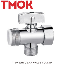 chromed plated brass screw down pneumatic angle valve