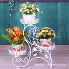 Planteur de fleurs en fer métallique décoratif de nouvelle conception de 2016