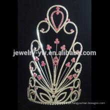 Coroa da flor do rhinestone do costume da jóia elegante para a venda