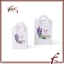 dolomite mini flower receptacle with decal pattern made in Chaozhou