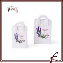 Dolomita mini recipiente de flor com decalque padrão feito em Chaozhou