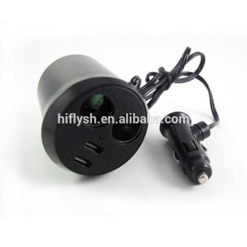 HF-LY0186 (107) Isqueiro do carro recarregável IPAD um dois um pontos dois duplo USB copo atualização IC (certificado do CE)