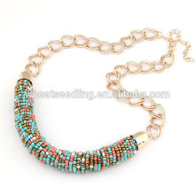 Fashion brand multicolor nepalese beads necklace