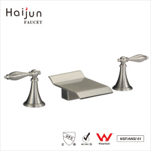 Haijun Famous Products Ornate 3 Hole Dual Handle Sanitary Bathroom Basin Faucets
