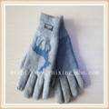 Snowflake jacquard knitted men gloves