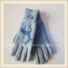 Жаккардовая снежинка вязаные Мужские перчатки