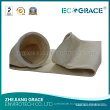 Sistema de extracción de polvo de la planta de acero Bolsa de filtro de Nomex