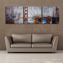 Wall Art Furniture Group Oil Painting with Bridge for Home Decoration