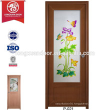 Quality plastic UPVC Frosted Glass Doors for Toilet or Bathroom or Kitchen